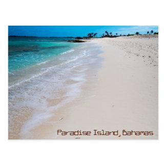 Postal Playa de la isla del paraíso