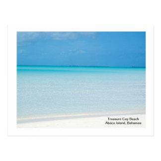Postal Playa de la isleta del tesoro