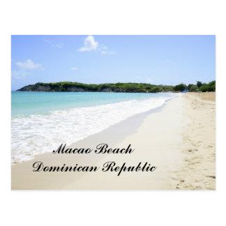 Postal Playa de Macao en la República Dominicana
