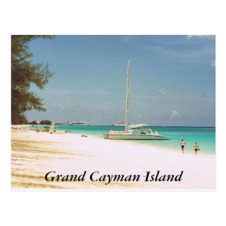 Postal Playa de siete millas, isla de Gran Caimán