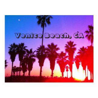 Postal Playa de Venecia de las palmeras