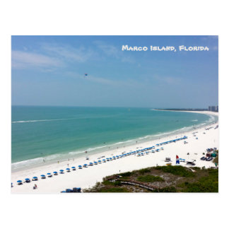 Postal Playa el Golfo de México de la Florida de la isla