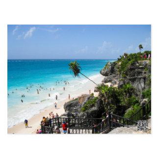 Postal Playa México de Tulum