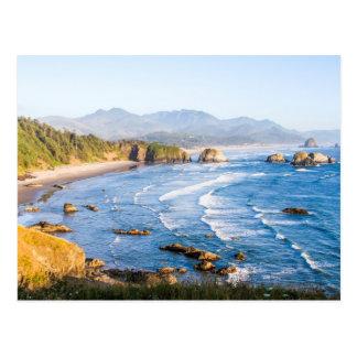Postal Playa Oregon del cañón
