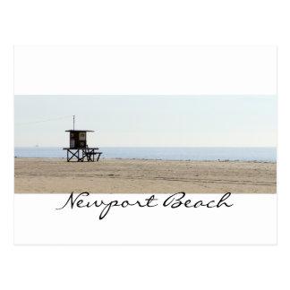 Postal Playa romántica de Newport