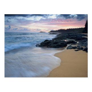 Postal Playa secreta en el amanecer