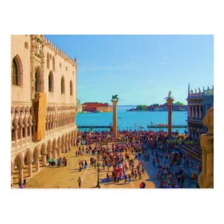 Postal Plaza de San Marco - Venezia Italia