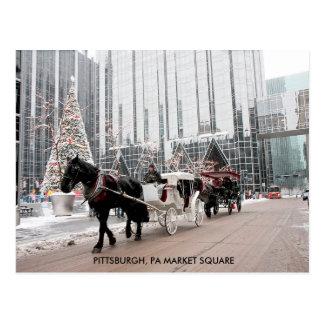 Postal Plaza del mercado del PA de Pittsburgh del navidad