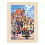 Postal Plaza San Lorenzo de Florencia de la acuarela