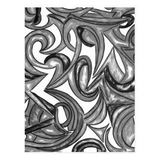 Postal Plumaje del pavo real - arte abstracto pintado a
