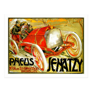 Postal Pneus cansa el poster de Bruselas de la carrera de