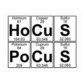 Postal Po-Cu-s del Ho-Cu-s (fórmula de prestidigitador) -