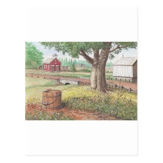 Postal Poca casa roja de la escuela