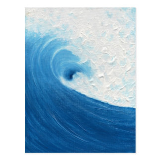 Postal Poco onda azul