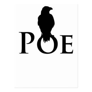 Postal Poe Edgar Allan Poe y el cuervo