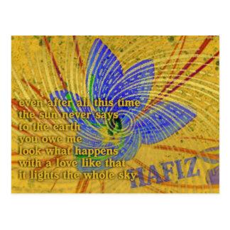 Postal Poema del amor por Hafiz