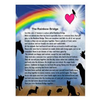 Postal Poema del puente del arco iris