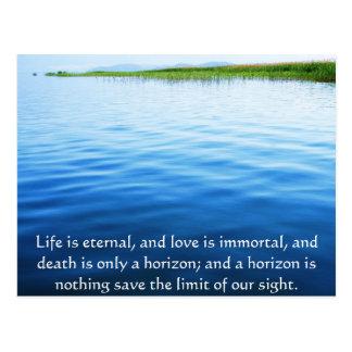 Postal Poema sobre la muerte - cita que se aflige