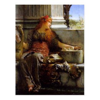 Postal Poesía de sir Lawrence Alma-Tadema