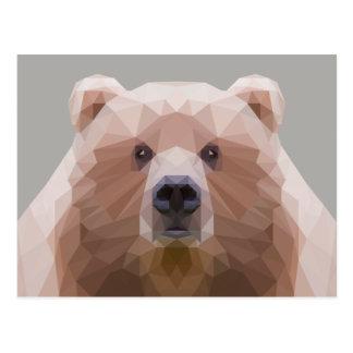 Postal polivinílica baja linda del oso