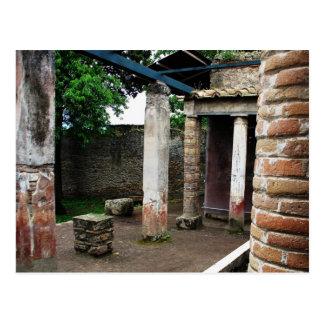 Postal Pompeya - ruinas de un chalet