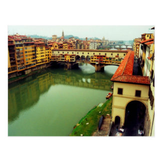 Postal Ponte Vecchio - Florencia