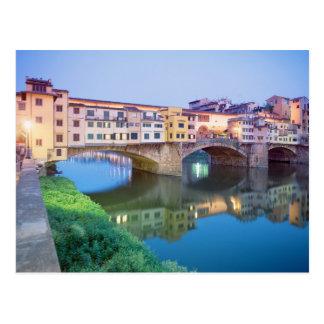 Postal Ponte Vecchio Florencia Italia