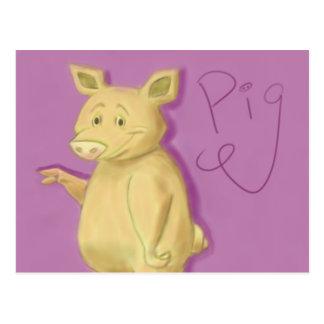 Postal popular del cerdo