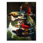Postal ¿Por Andaluc de Paseo? a (detalle). Pintor Goya.