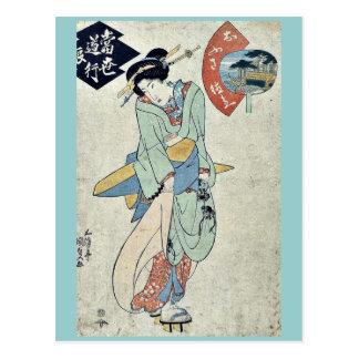 Postal por Utagawa, Toyokuni Ukiyo-e.