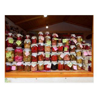 Postal Porciones de salmueras en el mercado