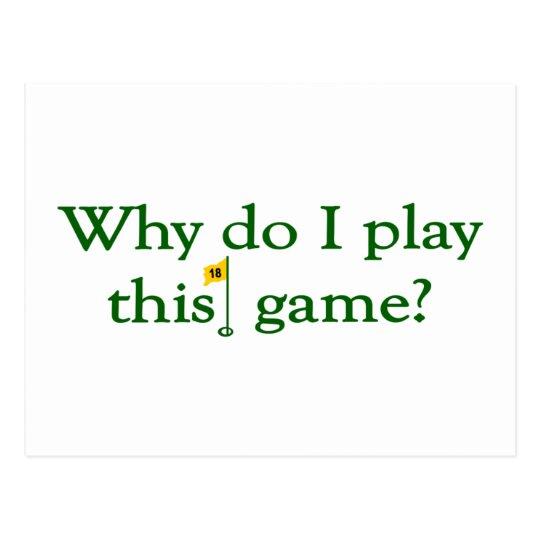 Postal Porqué lo hace el juego de I este juego (el golf)
