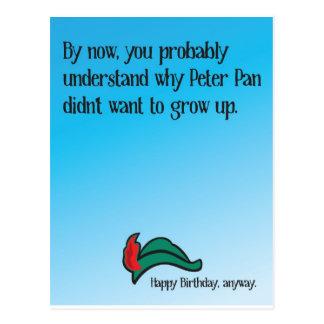 Postal Porqué Peter Pan no quiso crecer