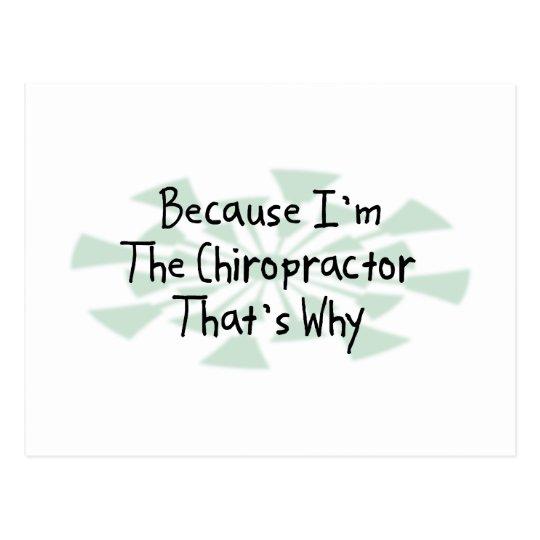 Postal Porque soy el Chiropractor