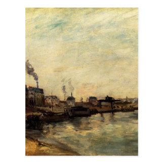 Postal Port de Grenelle de Paul Gauguin