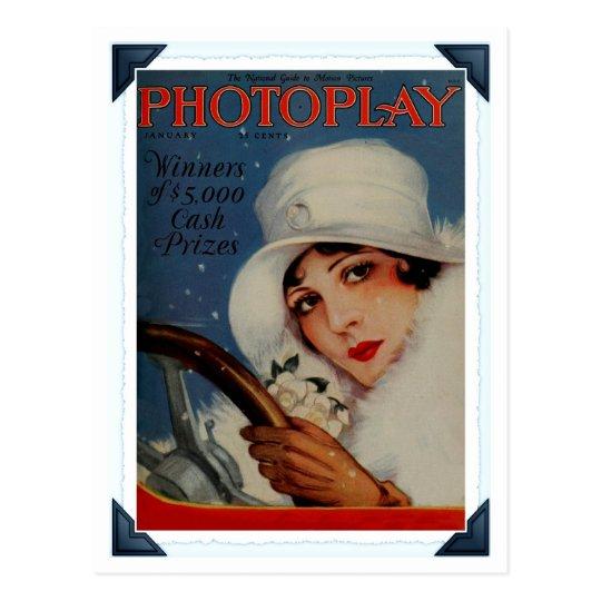 Postal Portada de revista 1927 de la película de