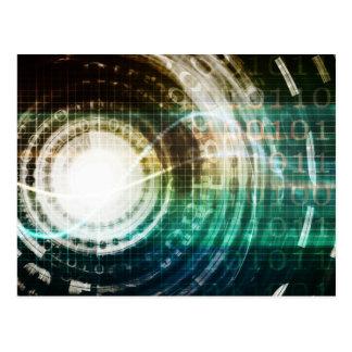 Postal Portal futurista de la tecnología con Digitaces
