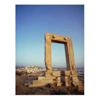 Postal Portara, Naxos, Grecia