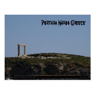 Postal Portara Naxos Grecia