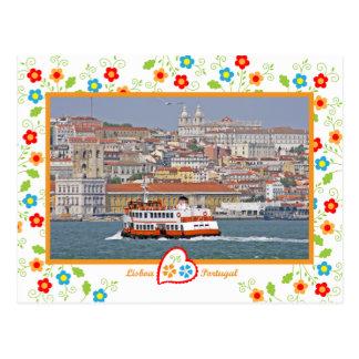 Postal Portugal en fotos - Lisboa del río
