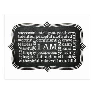 Postal Positivo SOY afirmaciones diarias para el éxito