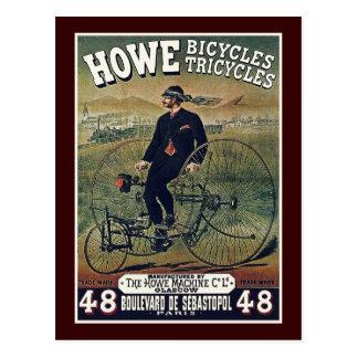 Postal Postal: Bicicletas y triciclos de Howe