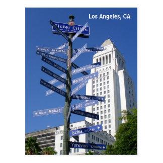 Postal ¡Postal céntrica hermosa de Los Ángeles!