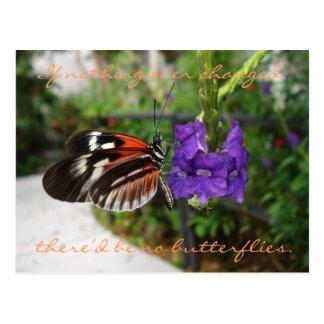 Postal Postal/cita de la mariposa del piano
