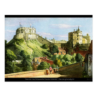 Postal ¡Postal de la pintura de la acuarela del castillo
