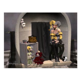"""Postal """"Postal del teatro de la marioneta de Julia"""" -"""