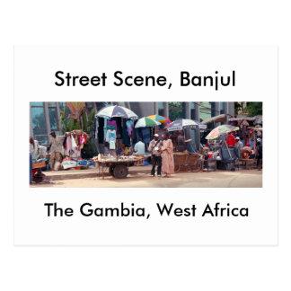 Postal Postal, escena de la calle, Banjul