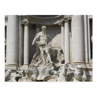 Postal Postal--Estatua de la fuente del Trevi