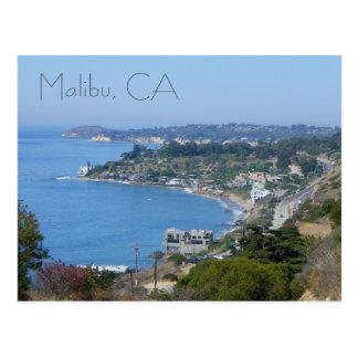Postal ¡Postal hermosa de la costa de Malibu!