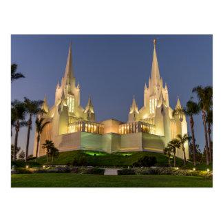 Postal Postal: Imagen de la tarde del templo de San Diego